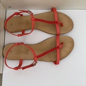 CORAL SANDALS MADE IN ITALY